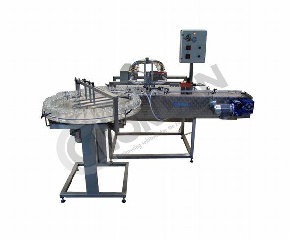 AUTOMATIC DOUBLE-HEADS FILLING MACHINE
