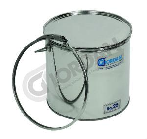 STAINLESS STEEL BUCKET WITH LID AND HERMETIC SEAL