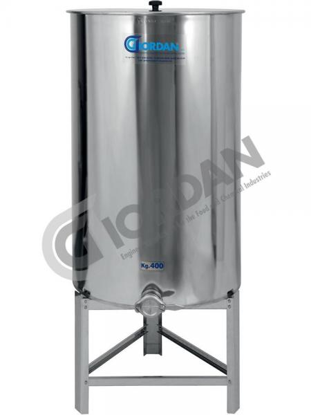 HONEY STAINLESS STEEL TANKS 400 KG, SECOND CHOICE